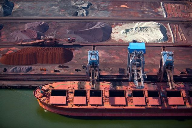 capesize bulk carrier dry bulk loading iron ore