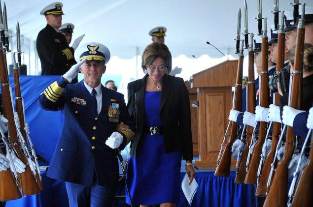 Adm. Paul Zukunft and his wife, Fran DeNinno-Zukunft. U.S. Coast Guard Photo