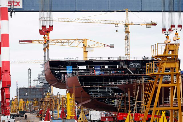stx oasis class cruise ship construction shipbuilding
