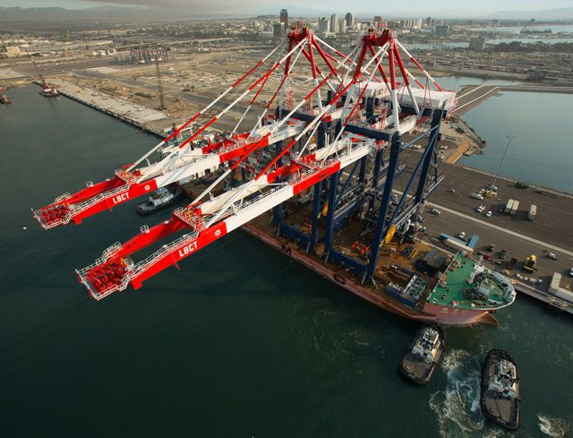 cranes port of long beach