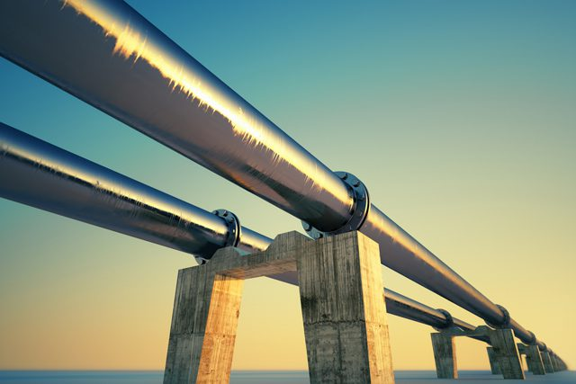 pipelines sunset natural gas pipes