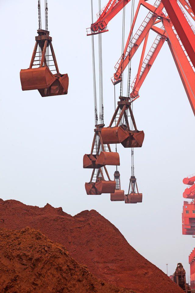 iron ore loading dock cranes dry bulk