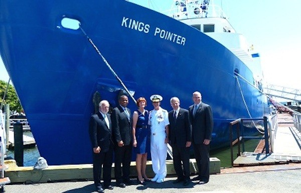 T/V Kings Pointer rechristening. Photo courtesy MARAD