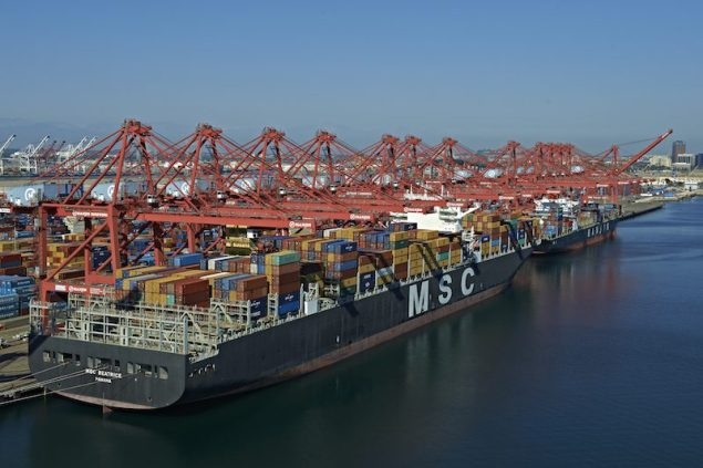 Ships berthed at Port of Long Beach. File photo courtesy Port of Long Beach