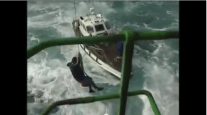 Daredevil French Lighthouse Keeper Performs Crazy Aerial Transfer