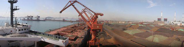 qingdao port iron ore dry bulk
