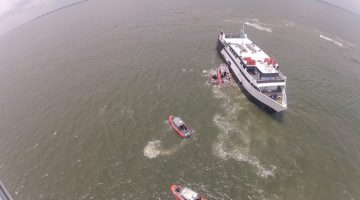 Coast Guard safely transfers 118 people off grounded casino boat