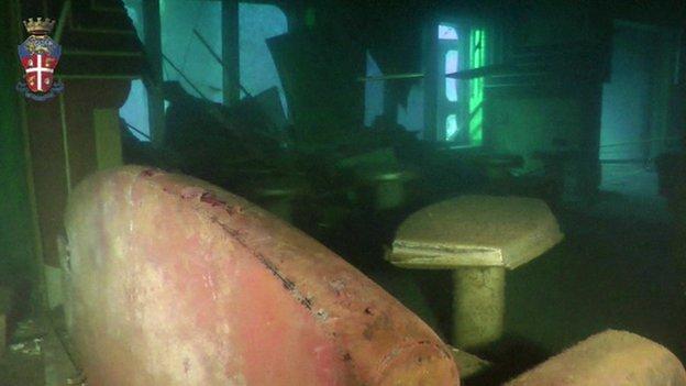 costa concordia underwater