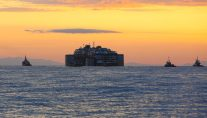 Smooth Sailing for Costa Concordia, Convoy Within Sight of Genoa