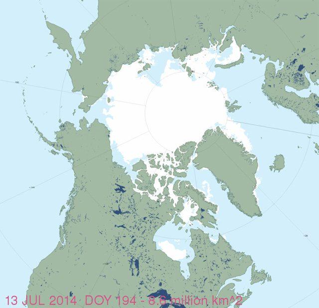 ice extent northwest passage