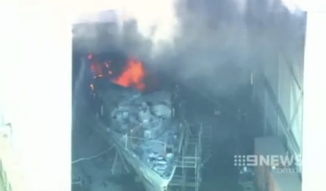 hmas bundaberg fire