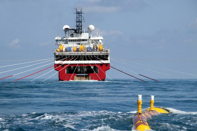 Dolphin Geophysical polar marquis seismic survey streamers