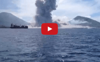 Cargo Ships Have Front Row Seat for Spectacular Volcano Eruption – Video