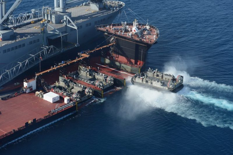USNS Montford Point in action. Photo credit: U.S. Navy