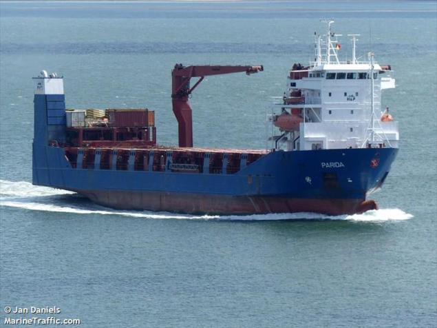 The MV Parida is a combination roll-on/roll-off, lift-on/lift-off vessel owned by Denmark's Combi Lift.Photo (c) MarineTraffic.com/