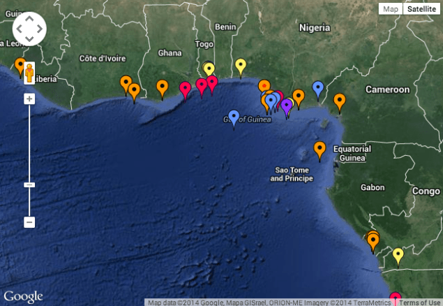Map shows all the piracy and armed robbery incidents reported to the IMB Piracy Reporting Centre during 2014. Click to view
