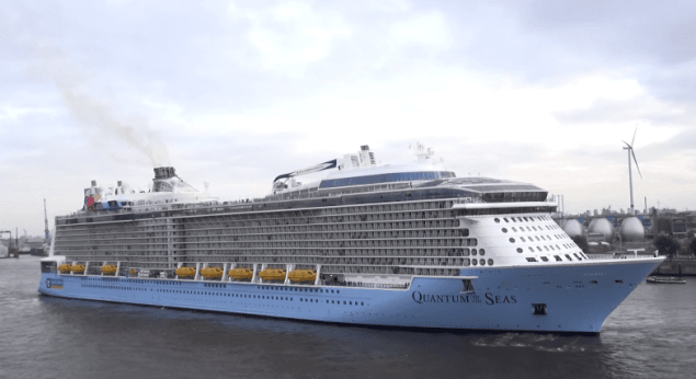 Quantum of the Seas in Hamburg, Germany, October 23, 2014. Photo courtesy Kallis Video Production