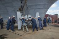 USS Enterprise Anchor Gets Second Life Aboard USS Lincoln