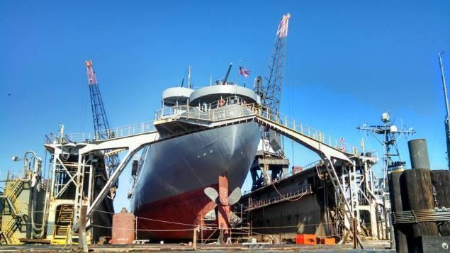 Dry docked.