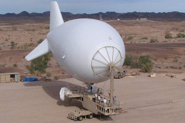 Deployed in Afghanistan and Iraq by the US Army since 2003, the aerostat's surveillance capabilities have helped US troops in convoy protection as well as tracking enemy movement. Photo courtesy Ministry of Defence/Lockheed Martin