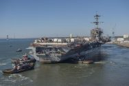 Video: USS Abraham Lincoln Refloated at Newport News