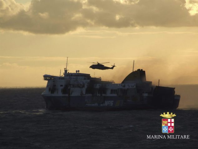 MV Norman Atlantic. Photo credit: Marina Militare