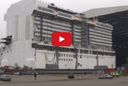 Watch: Meyer Werft Floats Giant Megablock for New Breakaway PLUS Cruise Ship