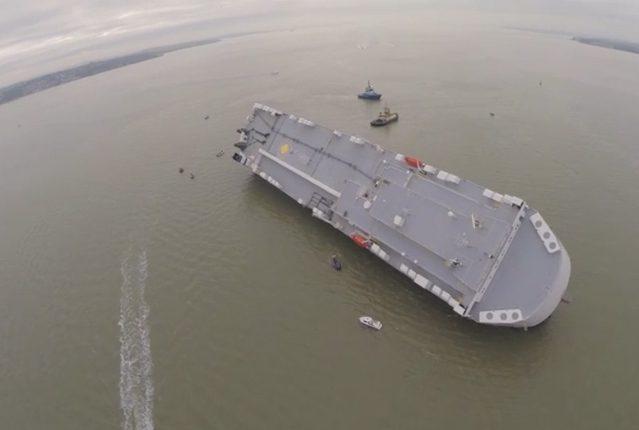 hoegh osaka aground