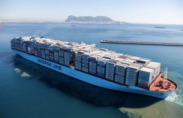 Maersk Mc-kinney Moller containership