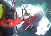 Watch: Daring Rescue as Fishing Boat Founders Off Scotland