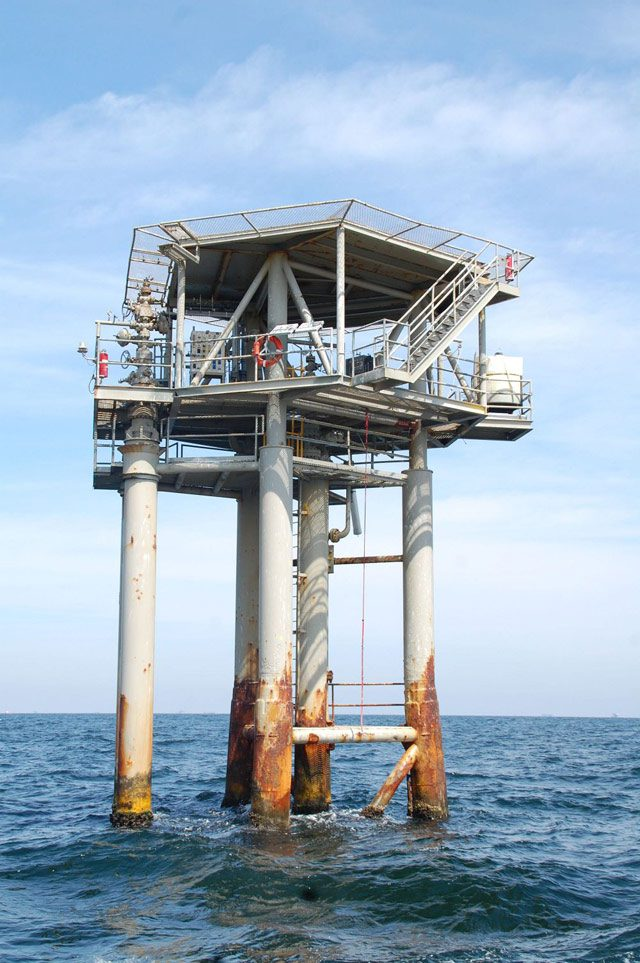 south timbalier platform oil and gas