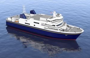 An illustration of the new Alaska-class ferries. Image courtesy Rolls-Royce