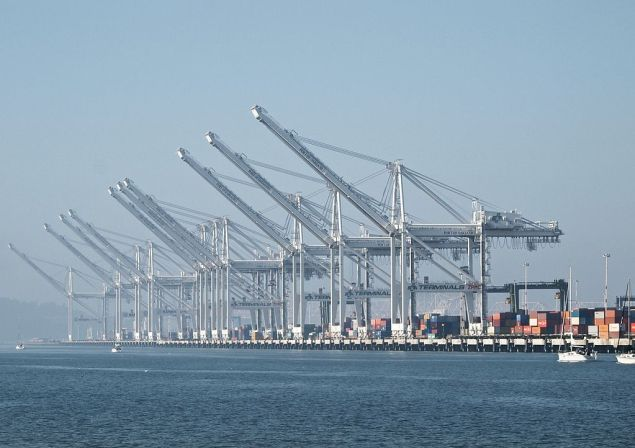 Port of Oakland file photo.  Photo: Wikimedia commons