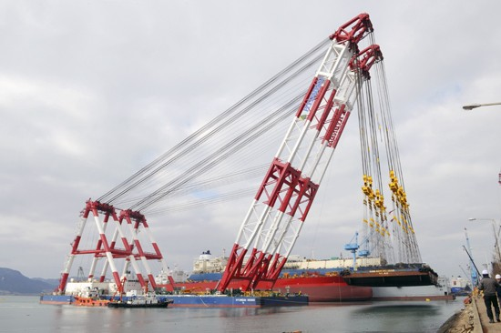 hyundai heavy crane barge