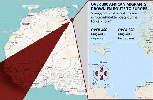 migrants drown libya lampedusa