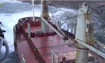 WATCH: Bulk Carrier Remains Pinned Against Greek Shoreline, All 22 Rescued – Update