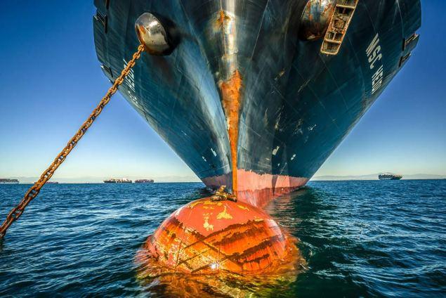 containership anchor long beach shipping anchorage