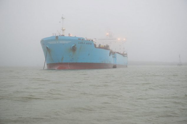 Collision near Morgans Point in Houston Ship Channel