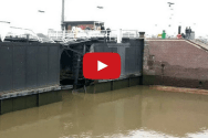 Kiel Canal Gate Severely Damaged in Ship Collision [Incident Video]