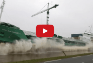 Video: Irish Bulk Carrier Sideways Launched at Ferus Smit