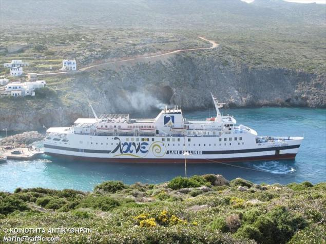 File photo of ferry Vitsentzos Kornaros (c) MarineTraffic/Koinothta Antikyophon