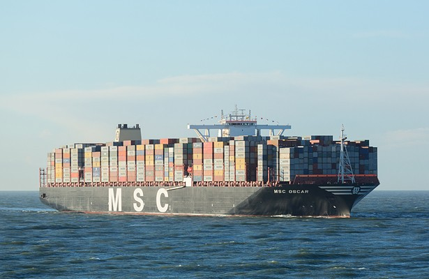 Delivered in November 2014, MSC Oscar can carry a record 19,224 TEUs.