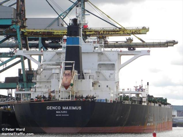 MV Genco Maximus, a 2009-built capesize bulk carrier. Photo: MarineTraffic/Peter Ward