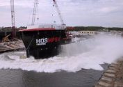 Watch: HOS Warland Launched at Eastern Shipbuilding