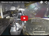 Raw Video: Maersk Iowa Engine Room Fire and Response in Real-time
