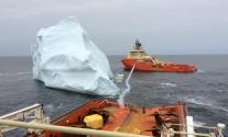 Ship Photo of the Day – Iceberg Wrangling in the North Atlantic