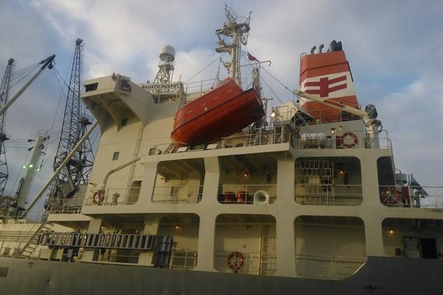 Nagato Reefer accomodation block and lifeboat. Photo: MAIB