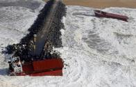 Watch as Huge Waves Split Cargo Ship In Half [VIDEO]
