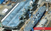 SPOTD: HMS Queen Elizabeth next to the 2nd largest British warship
