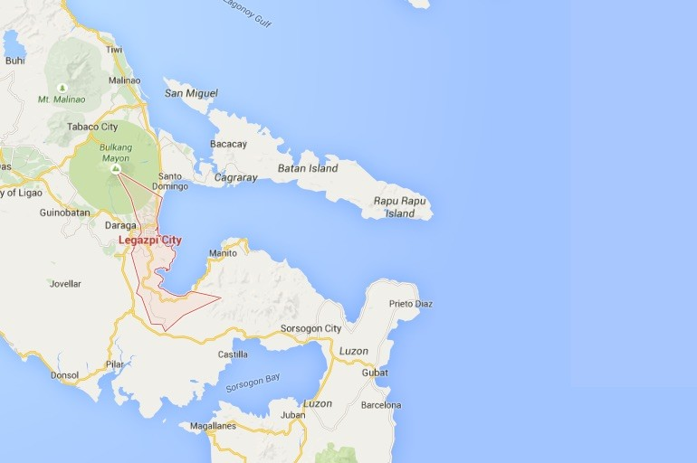 Location of Legazpi City in the central Philippines.